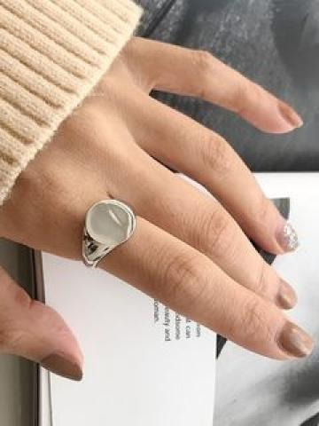 925 Sterling Silver Polished Open Ring K281 - As Shown In Figure - One Size