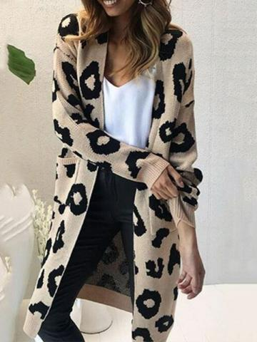African Fashion Regular Long Casual Standard Wool Womens Cardigan
