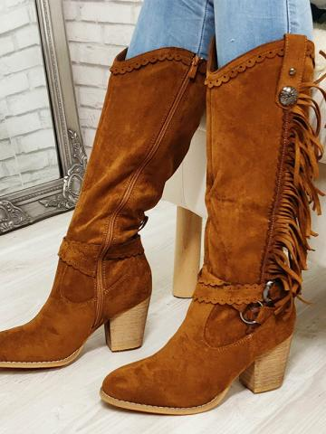 Autumn and winter Fringe boots