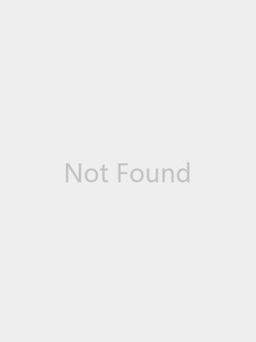 Band Collar  Plaid Coat