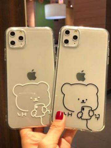 Bear-Print Phone Case For iPhone 6 / 6S / 6 Plus / 7 / 7 Plus / 8 / 8 Plus / X / XS / XR / XS Max / 11 / 11 Pro / 11 Pro Max