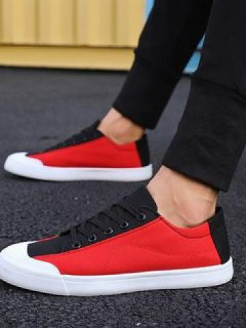 Color Block Canvas Sneakers