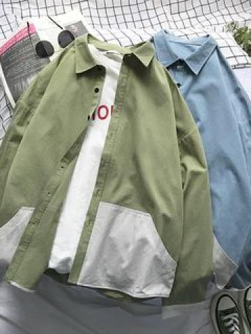 Color Block Shirt Jacket