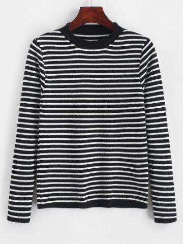 Contrast Stripes Pullover Sweater