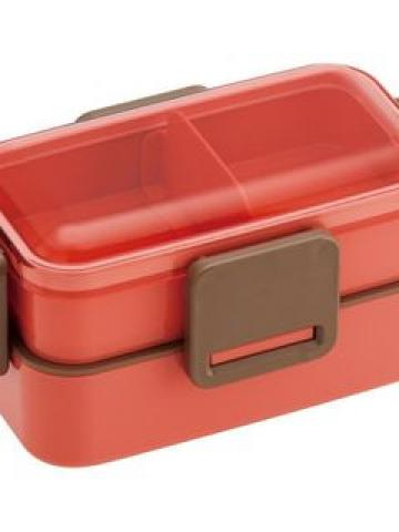 Earth Color 2 Layer Soft Lunch Box (Pink)
