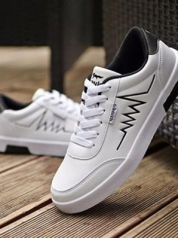 Embroidered Lace Up Sneakers