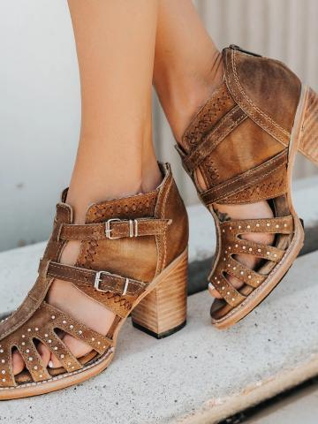 European and American style fashion high-heeled open-toed Pumps