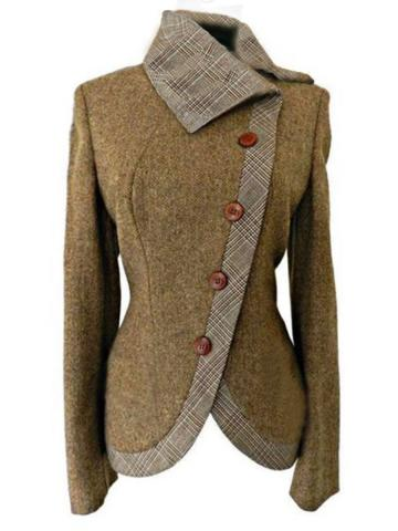 Fold-Over Collar  Colouring Coat