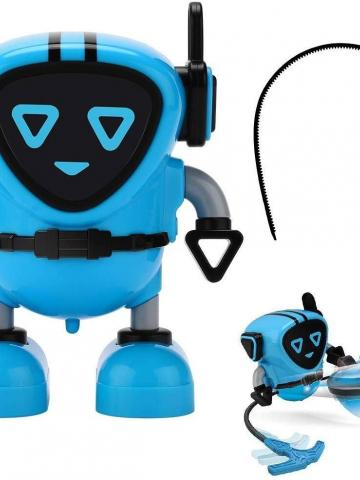 JJRC R7 Gyro Pull Back Robot Children Educational Toy / Blue