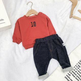 00bc4add8 MOM Kiss Kids Number Print Pullover - YesStyle Deals & Sales 2018 ...