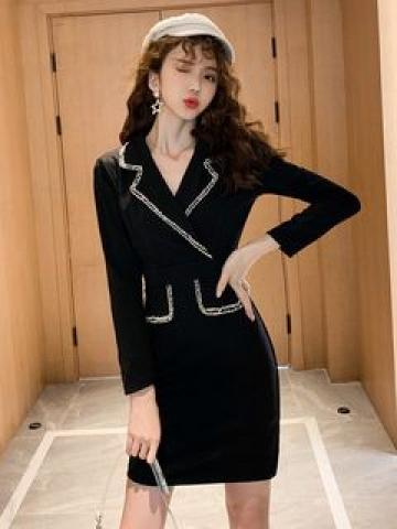 Long-Sleeve Collared Dress