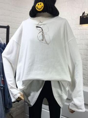Long-Sleeve T-Shirt White - One Size