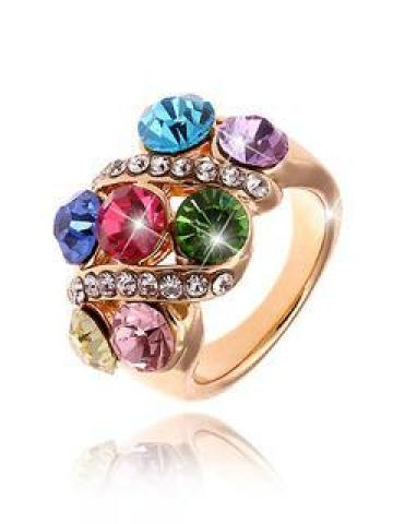 Multi Color Jewel Ring