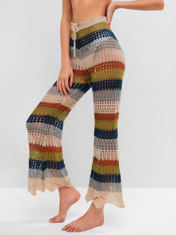 Multi striped Crochet Pants