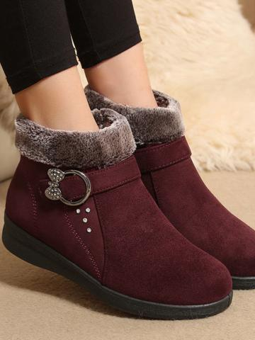 Plain  Round Toe Boots