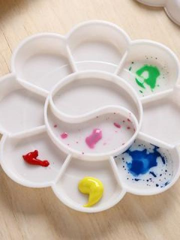 Plastic Color Palette 1 Piece -