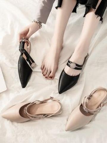 Pointed Block Heel Sandals