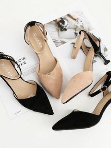 Pointed High Heel Ankle Strap Sandals