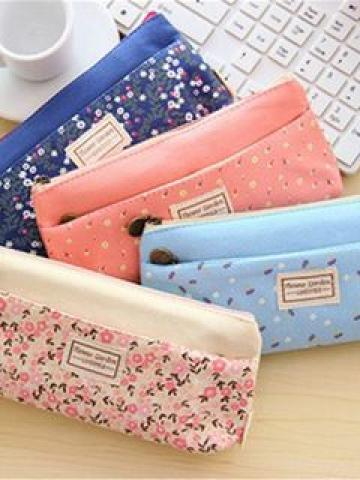 Printed Zip Pencil Case