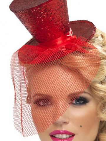 Red Glitter Top Hat by Fever - Yandy.com