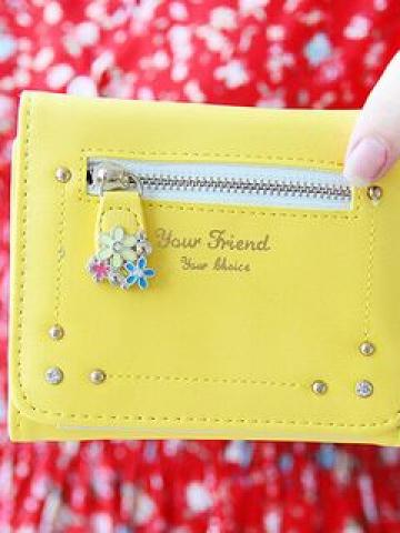 Rhinestone-Accent Wallet