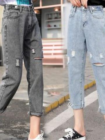 Rip Straight Fit Jeans