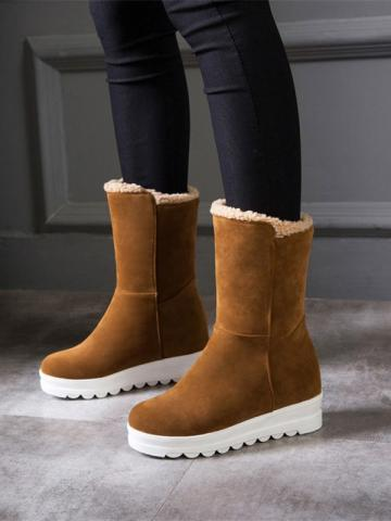Simple and casual high snow boots