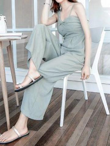 Sleeveless Cropped Wide-Leg Jumpsuit
