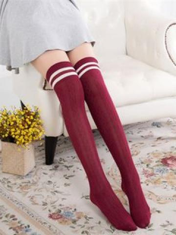 Striped Knee Socks