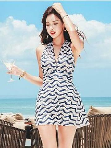 Striped Swim Dress