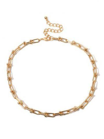 U buckle Link Chain Necklace