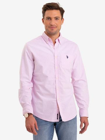 U.S. Polo Assn. - Mens Long Sleeve Striped Oxford Shirt - Size S
