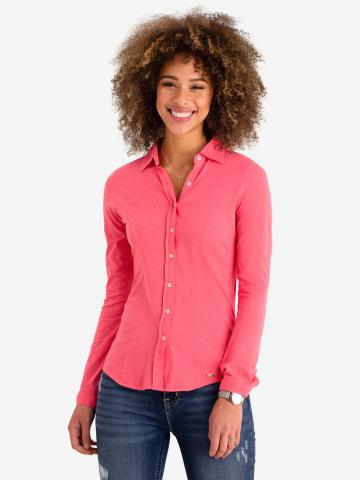 U.S. Polo Assn. - Womens Long Sleeve Shirt In Cotton Jersey - Size XS