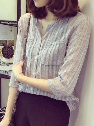 V-Veck 3/4-Sleeve Shirt