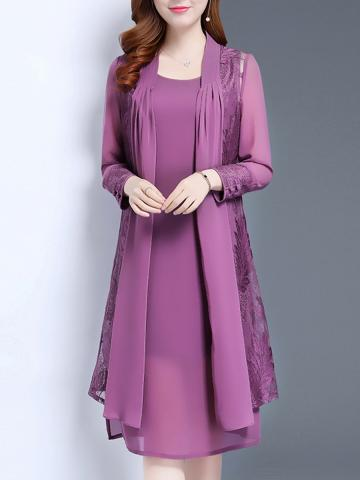 Women's Elegant Mid-length Two-piece Dress