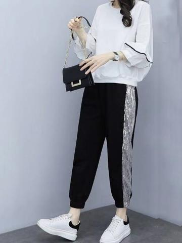 Women's two-piece leisure sports suit for European station